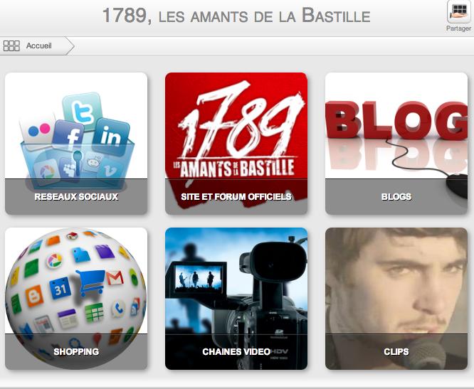 1789  les amants de la Bastille   Les liens officiels   Tiki mee